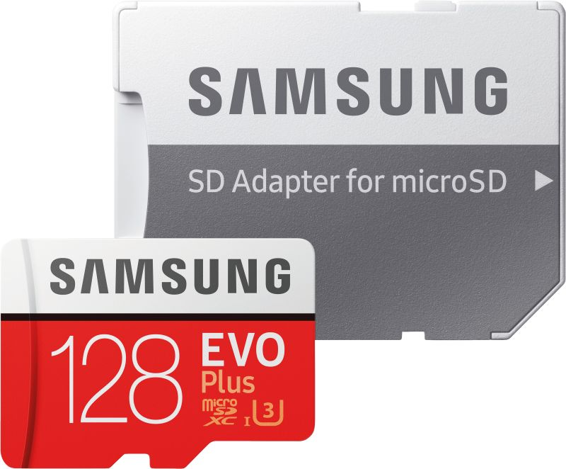 EVO Plus 128GB microSDXC Card 100MB/s + SD-Adapter