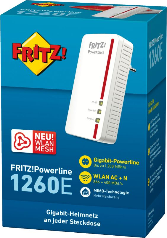FRITZ!Powerline 1260E (WLAN Single)
